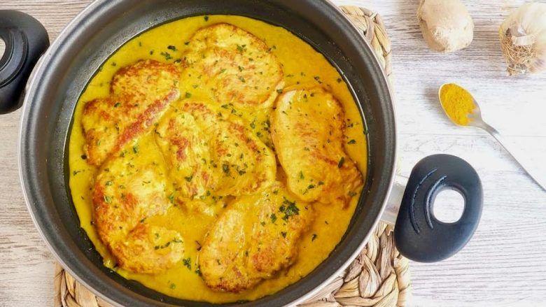 pavo al curry receta